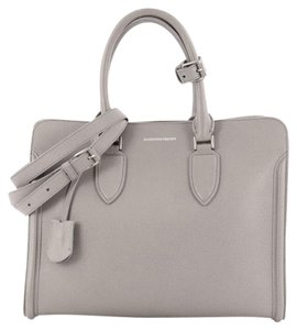 Alexander McQueen Leather Tote in Gray