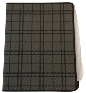 coach I pad cover grey and brown plaid coach I pad cover