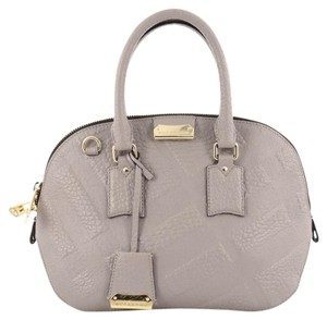 Burberry Leather Satchel in Gray