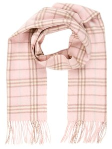 Burberry Pink, ivory multicolor Burberry Nova check print wool scarf