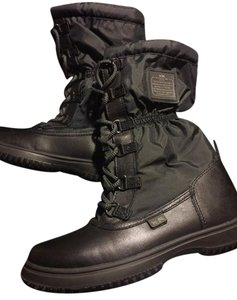 Coach Snow Lace-up Cold Weather Water-resistant Black Boots