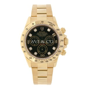 Rolex Rolex Cosmograph Daytona 18K Yellow Gold Watch Black Diamond Dial