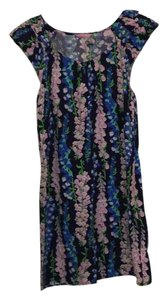 Lilly Pulitzer short dress Navy Blue, Lilac, Green on Tradesy