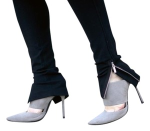SCHUTZ Stiletto Grey Heels Designer Ciment Mules