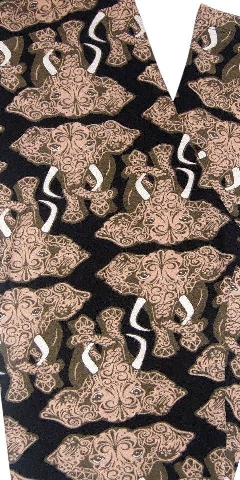 53f17ac6e82a79 LuLaRoe LulaRoe - TC Leggings - PAISLEY ELEPHANTS! Black & Tan! UNICORN!