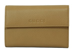 Gucci GUCCI 346057 Leather French Wallet, Whisky Beige