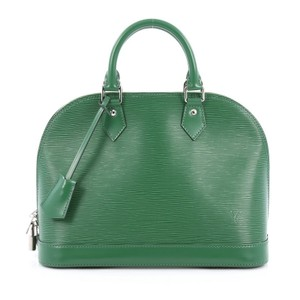 Louis Vuitton Leather Satchel in Green