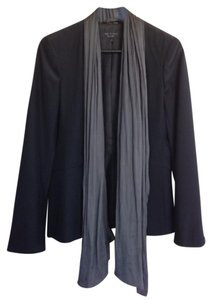 Rag & Bone Silk Jacket Coat Black Black/Grey Blazer