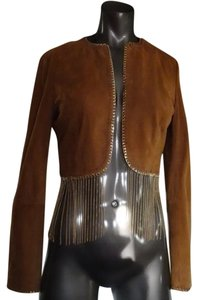 Marciano Suede Rust Leather Jacket