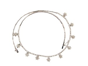 Other Gorgeous 14k gold & 4 ct Diamond cluster necklace w Appraisal
