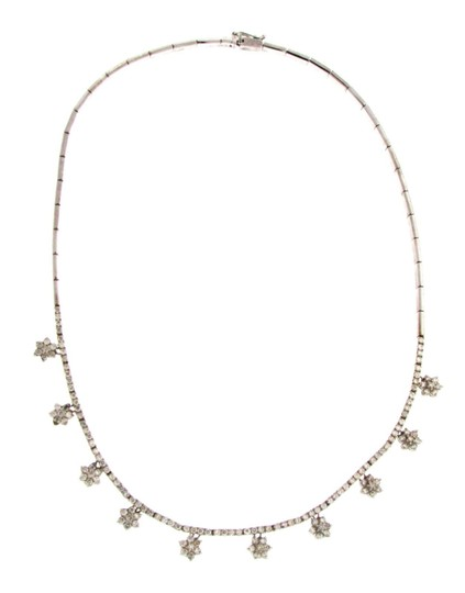 Other Gorgeous 14k gold & 4 ct Diamond cluster necklace w Appraisal Image 1