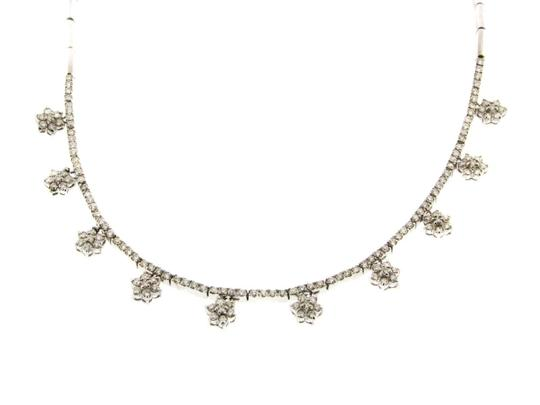 Other Gorgeous 14k gold & 4 ct Diamond cluster necklace w Appraisal Image 2
