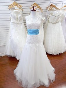 Alfred Angelo Ivory Lace 2243 Wedding Dress Size 10 (M)
