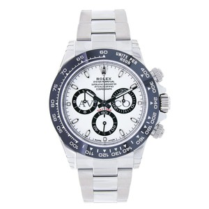 Rolex Rolex Cosmograph Daytona Steel Watch Ceramic Bezel White Dial
