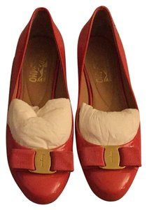 Salvatore Ferragamo Morning Rose Patent calf Flats