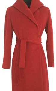 Calvin Klein Wrap Trench Side Pocket Soft Wool Luxury Wool Trench Coat