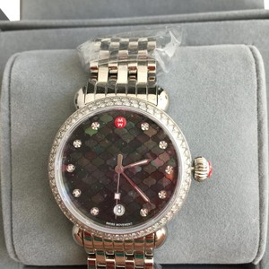 Michele $2200 NWT CSX-36 Diamond, BLACK Mosaic MOP Diamond Dial MW03R01A1928