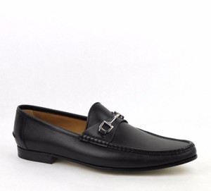 0251859a243 Gucci Black Mens Patmos Leather Interlocking Dress Penny Loafer 9 10 ...