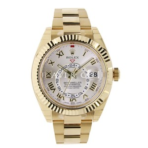 Rolex Rolex Sky-Dweller 18K Yellow Gold Watch Silver Roman Dial 326938