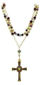 Kinley Gold Rosary Cross Crystal Kinley Necklace