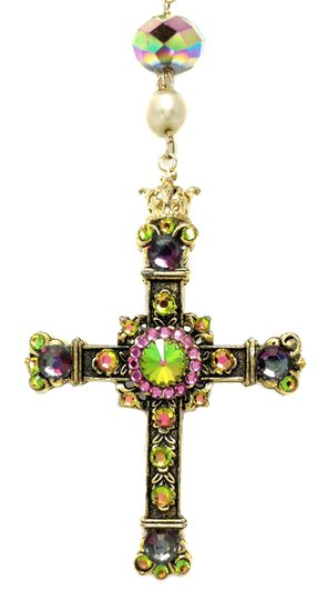 Kinley Gold Rosary Cross Crystal Kinley Necklace Image 3
