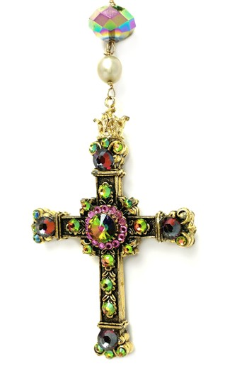 Kinley Gold Rosary Cross Crystal Kinley Necklace Image 4
