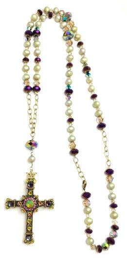 Kinley Gold Rosary Cross Crystal Kinley Necklace Image 5