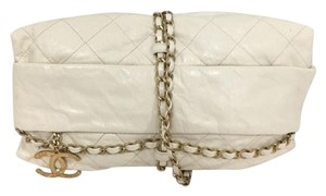 Chanel Exclusive Runway Chain Creamy White Clutch