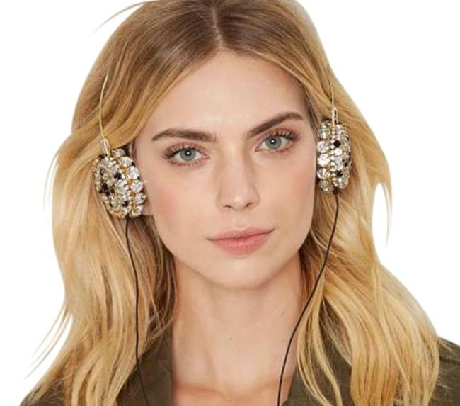 Item - Gold Sspecial Edition Zara Martin Skinnydip Eembellished Bling Headphones Tech Accessory