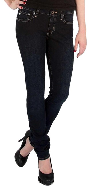 Big Star Stretchy Low Rise Mid Rise Skinny Jeans-Dark Rinse Image 0