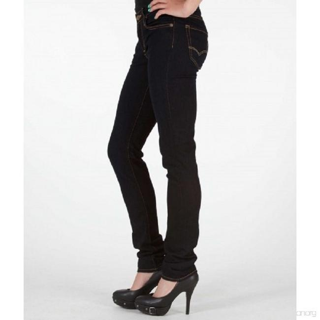 Big Star Stretchy Low Rise Mid Rise Skinny Jeans-Dark Rinse Image 3