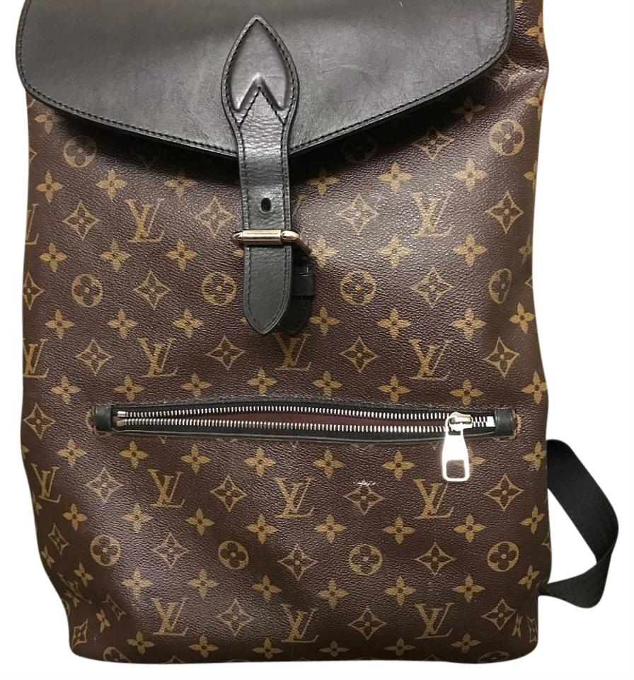 aaf8bef7e81e Louis Vuitton Palk M40637 Lv Brown and Black Leather Backpack - Tradesy