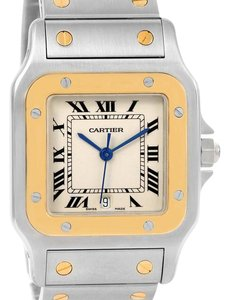 Cartier Cartier Santos Galbee Large Steel 18K Yellow Gold Quartz Watch W20011C