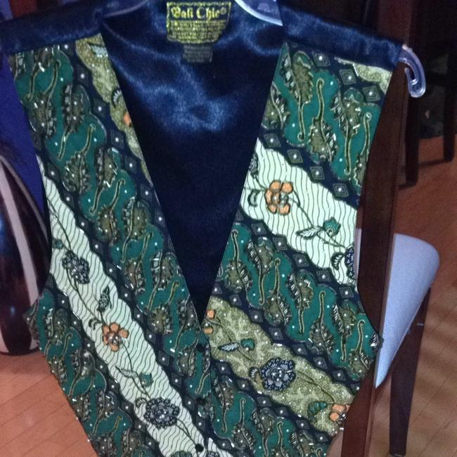 Bali Chic Sequinned Perals Satin Vest