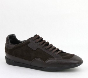 Gucci Brown Men's Dark Suede Leather Lace-up Sneakers 5g/Us 5.5 317052 2145 Shoes