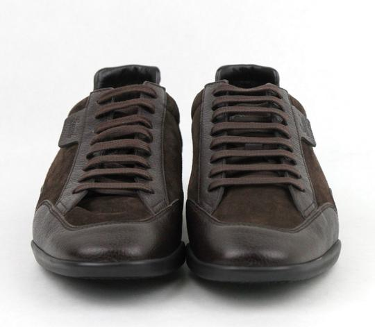 Gucci Brown Men's Dark Suede Leather Lace-up Sneakers 5g/Us 5.5 317052 2145 Shoes Image 2