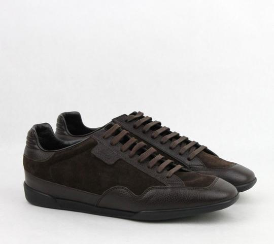 Gucci Brown Men's Dark Suede Leather Lace-up Sneakers 5g/Us 5.5 317052 2145 Shoes Image 3