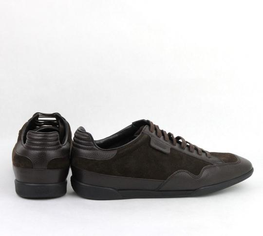 Gucci Brown Men's Dark Suede Leather Lace-up Sneakers 5g/Us 5.5 317052 2145 Shoes Image 4