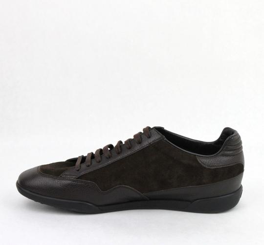 Gucci Brown Men's Dark Suede Leather Lace-up Sneakers 5g/Us 5.5 317052 2145 Shoes Image 5