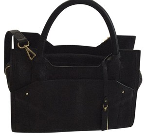 Vince Camuto Satchel in black and gold