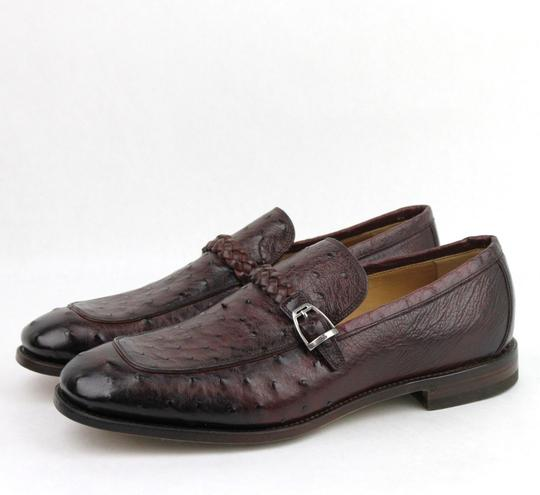 Gucci Chardonnay Red W Men's Ostrich Loafer W/Braided Strap Buckle 9.5/Us 10 337038 6123 Shoes Image 1