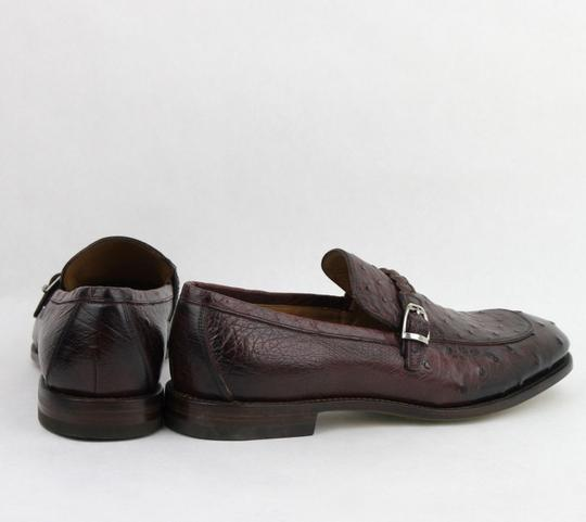 Gucci Chardonnay Red W Men's Ostrich Loafer W/Braided Strap Buckle 9.5/Us 10 337038 6123 Shoes Image 4