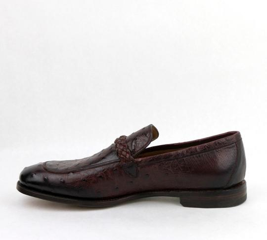 Gucci Chardonnay Red W Men's Ostrich Loafer W/Braided Strap Buckle 9.5/Us 10 337038 6123 Shoes Image 5
