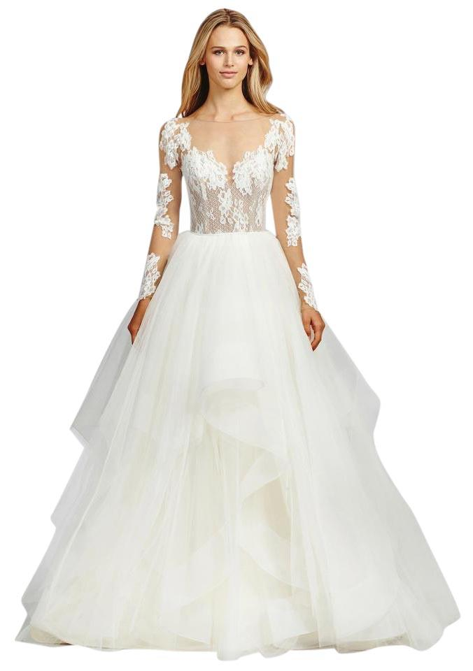 de22eac87269 Hayley Paige Ivory Lace and Tulle 1652 Pippa Feminine Wedding Dress ...