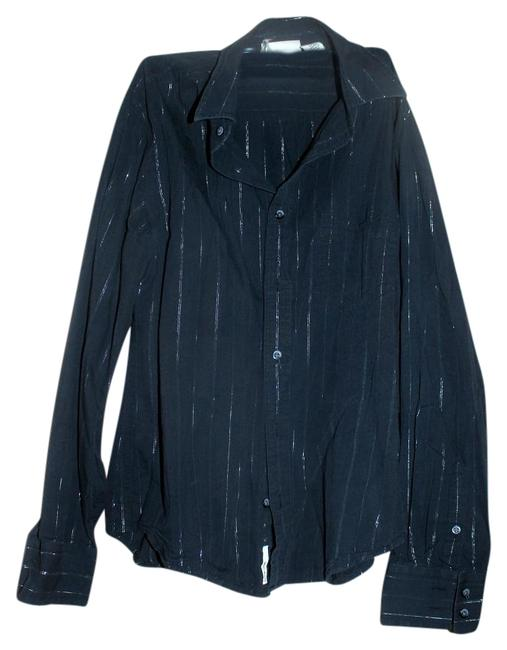 Preload https://img-static.tradesy.com/item/20302381/dkny-black-with-silver-stripes-jeans-button-down-top-size-8-m-0-1-650-650.jpg