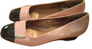 Hush Puppies Taupe/Black Wedges