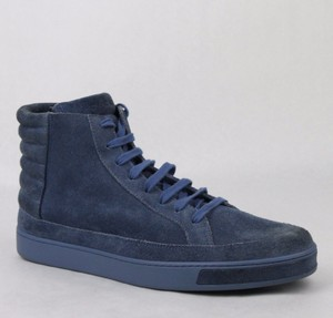 Gucci Blue Men's Suede Hi-top Sneakers 11 G/Us 11.5 378989 4239 Shoes