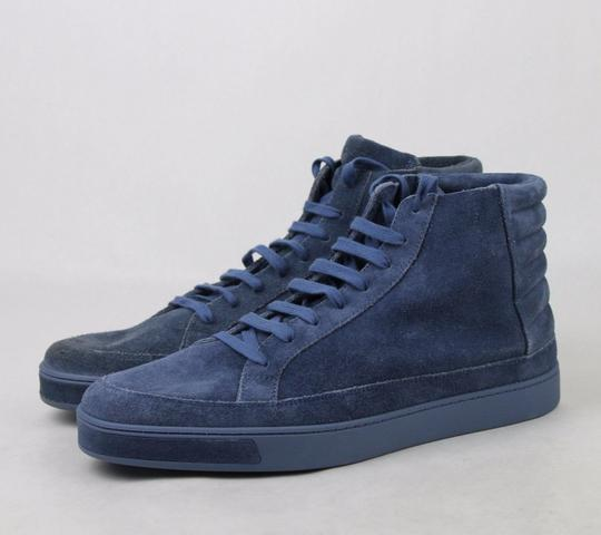 Gucci Blue Men's Suede Hi-top Sneakers 11 G/Us 11.5 378989 4239 Shoes Image 1