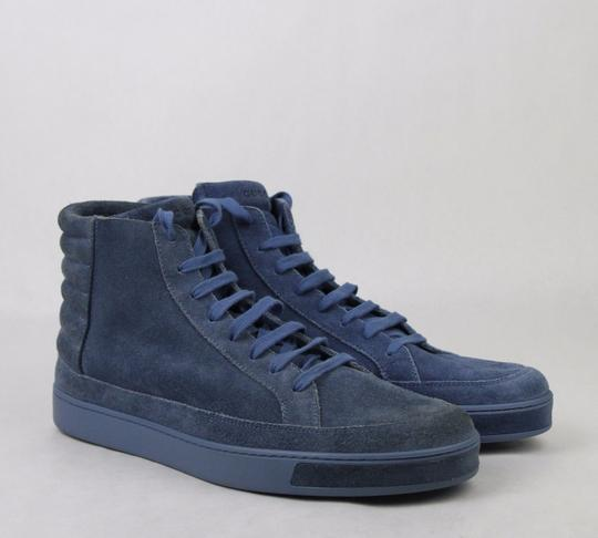 Gucci Blue Men's Suede Hi-top Sneakers 11 G/Us 11.5 378989 4239 Shoes Image 3