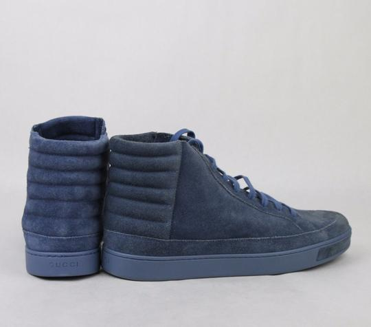 Gucci Blue Men's Suede Hi-top Sneakers 11 G/Us 11.5 378989 4239 Shoes Image 4